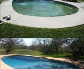 Celestial Blue Pebble, 8ft Deep Pool, Refinish Kool Deck