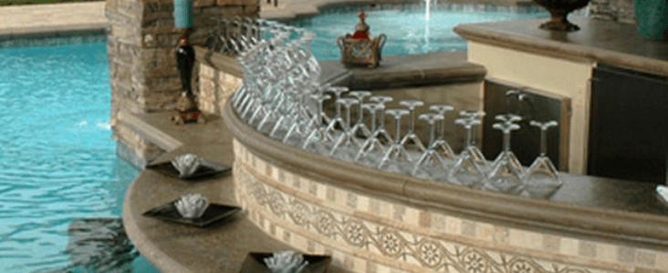 Glass Tile installation on Pools
